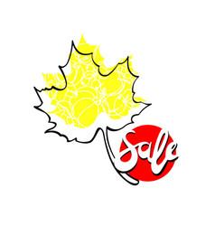 autumn sale template graphic icon vector image