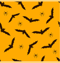 bat backround pattern halloween seamless pattern vector image
