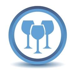 Blue stemware icon vector