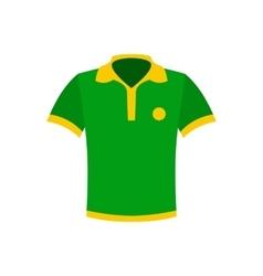 Brazilian yellow and green soccer shirt icon vector