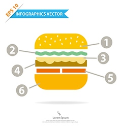 Burger Infographics vector
