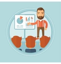 Businessman giving business presentation vector image