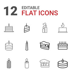 candle icons vector image