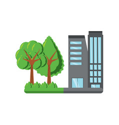 city building design vector image