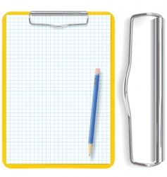 Clipboard pencil and paper vector