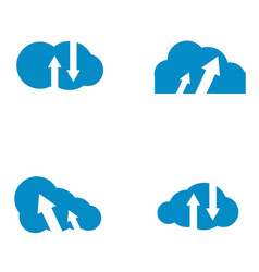 cloud tech logo vector image