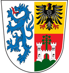 Coat of arms of traunstein in upper bavaria vector