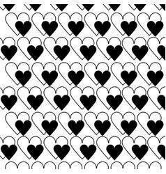 Contour beauty heart a romance decoration vector