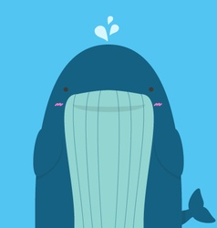 Cute big fat whale vector