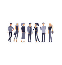 detailed character students lifestyle couple of vector image