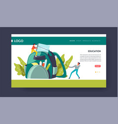 education and degree receiving web page template vector image