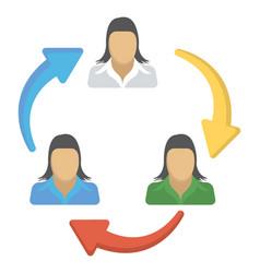 Employee turnover vector
