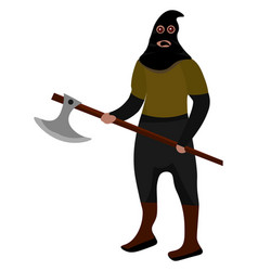 Executioner on white background vector