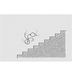 Fall from stairs vector