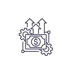 Financial efficiency line icon vector