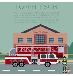 Fire Station Banner5 vector