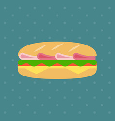 flat sandwich icon vector image
