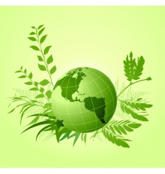 floral ecological background vector image
