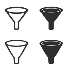funnel icons set vector image