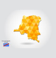 Geometric polygonal style map of democratic vector