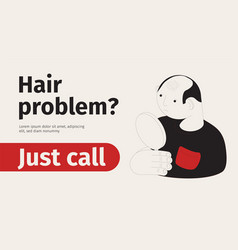 Hair problem isometric banner vector