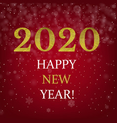happy new year poster with golden text vector image