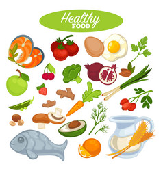 healthy food poster or natural organic vegetables vector image