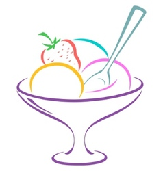 icecream in a vase vector image