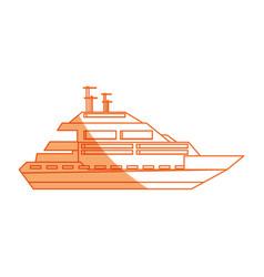 Isolated cute yacht vector
