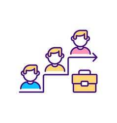 Job promotion rgb color icon vector