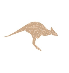 Kangaroo jump colorful mosaic pattern vector
