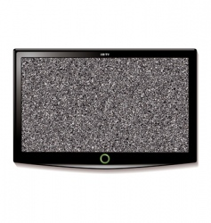 LCD TV wall hang static vector image