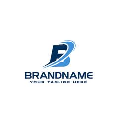 Letter b technology solution logo design concept vector