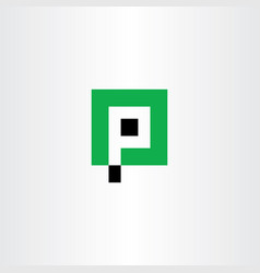 Letter p icon parking logo symbol vector