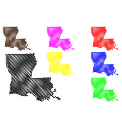 louisiana map vector image