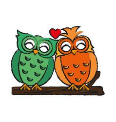 Lovebirds romantic valentines day icon image vector