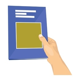 man handing over a book vector image