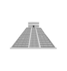 mayan pyramid maya civilization symbol american vector image