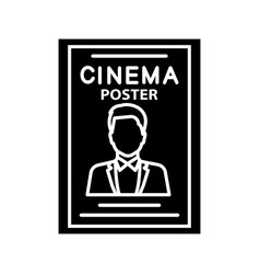 Movie poster glyph icon vector
