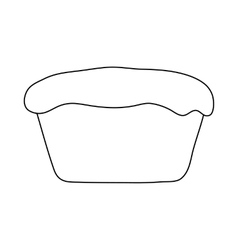 Muffin icon in outline style vector