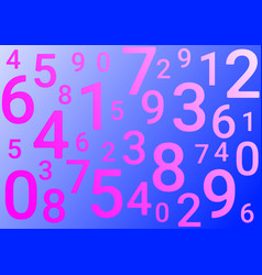 On a blue background are different numbers vector