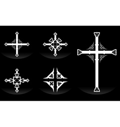 Ornate Crosses vector