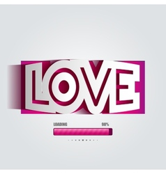 paper curved convex inscription love vector image