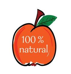 Peach natural color vector