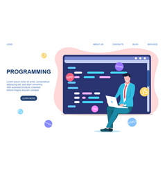 programming or coding concept vector image