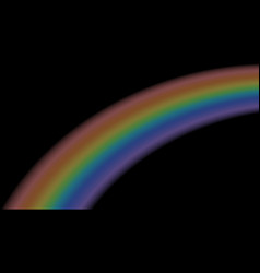 Rainbow icon realistic isolated black background vector