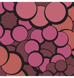 Red circles abstract vector