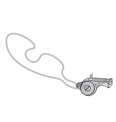 referee's whistle vector image