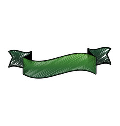 Ribbon banner emblem vector