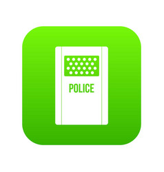 Riot shield icon digital green vector